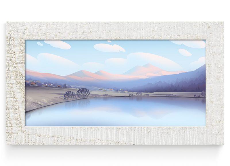 jezero-okvir-svetel