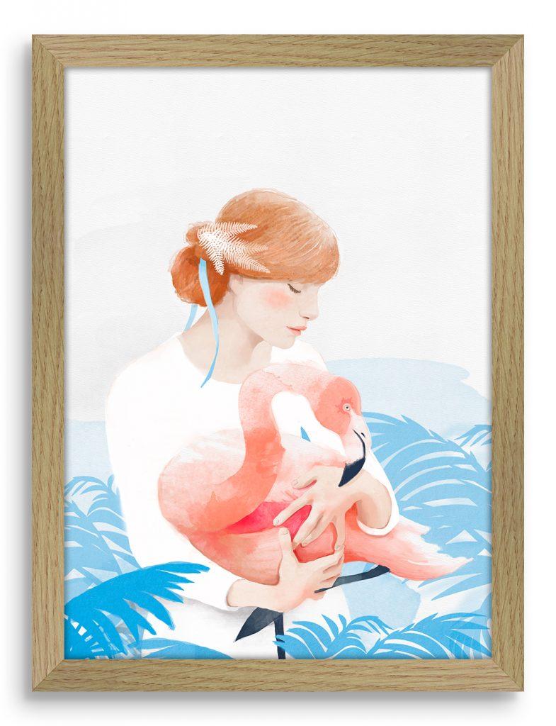 flamingo-girl-okvir-svetel-roba
