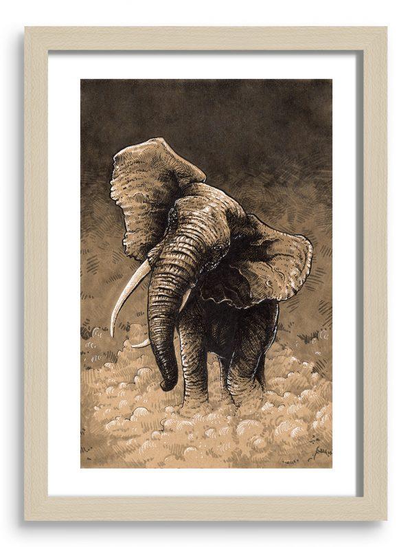 gregor-gorsic-afriski-slon-okvir-A4-natur
