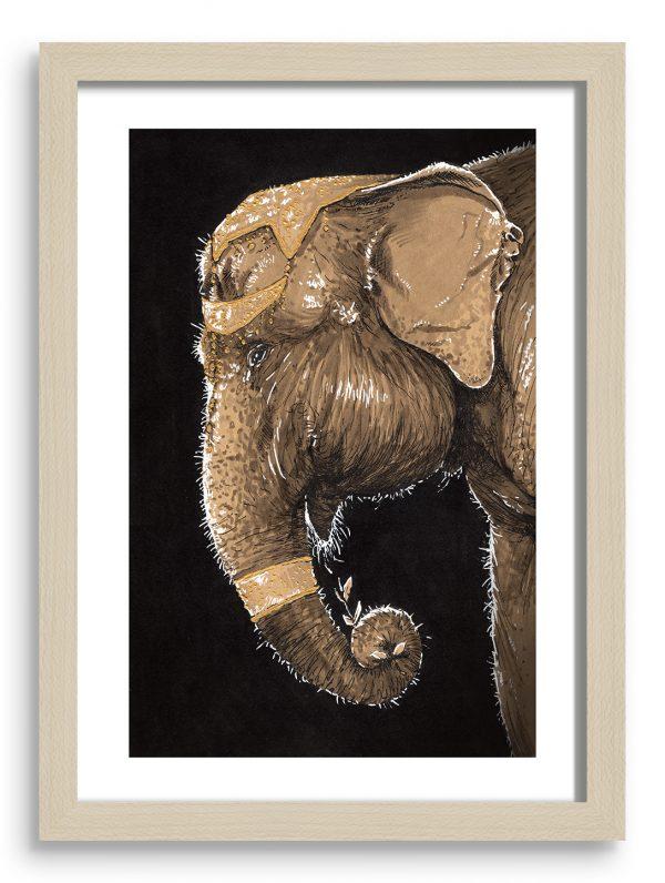 gregor-gorsic-indijski-slon-okvir-A4-natur